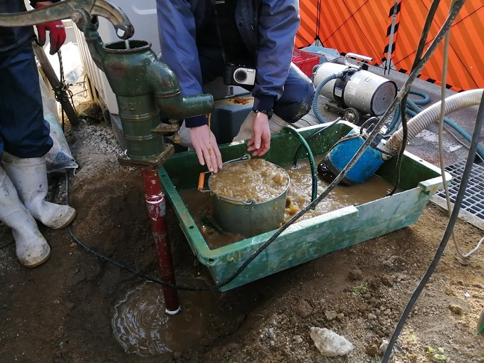 井戸を掘りました